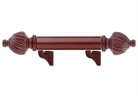 Cambridge Finial custom drapery hardware