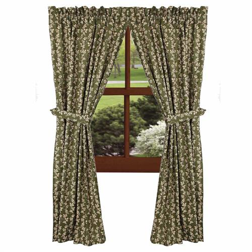 Charlotte Floral 63 Curtain Panels