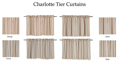 Charlotte Tier Belgium Linen Curtains Available In 4 Colors