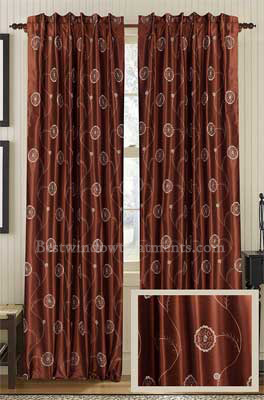 Evoltuion faux silk curtain