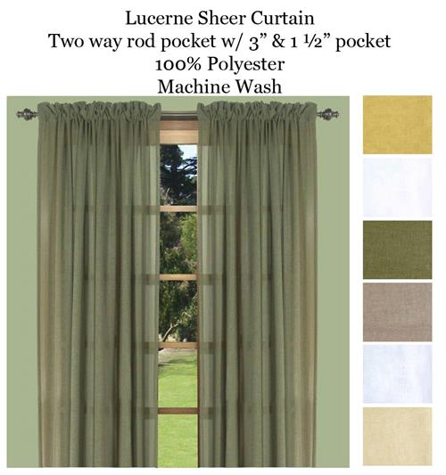 Lucerne Curtain Panels In Ivory Linen Butterscotch Custard Olive Or White