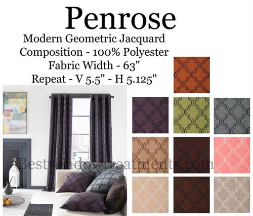 Penrose Moroccan Tile arabesque quatrefoil Silk Curtains