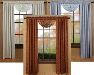 Tobacco Cloth Print Curtains Pair