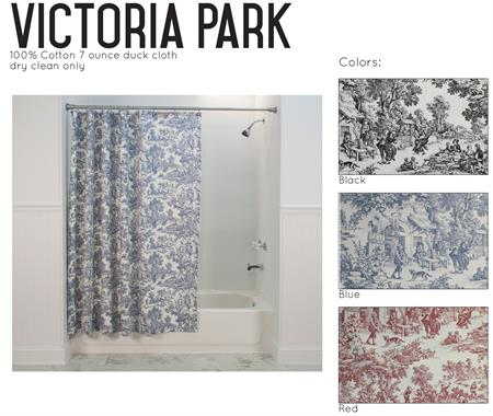 Victorian Toile Shower Curtain