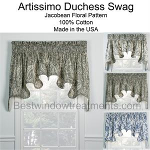 Artissimo Duchess Swag Set Lined