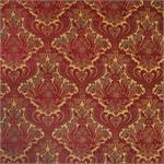 Moroccan Red Damask Fabric