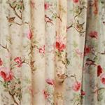 Balmoral Floral curtain Red