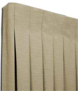 Box Pleated Drapes in Single Width Size
