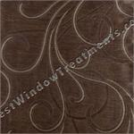 Caesar Scroll Designer Brown Swatch
