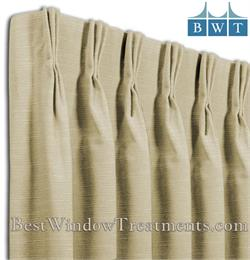 Custom Pinch Pleated Drapes in COM Fabric -  Single Width Size