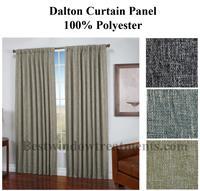 Dalton Homespun Woven Curtain Panel In 3 Colors