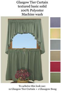 24 Inch Length Cafe Tier Curtains