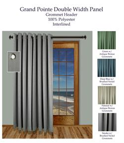 Grand Pointe Double Width Grommet Curtain Panel