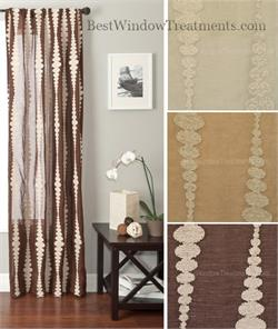 Mona Stripe Linen Look Curtains Stripe boucle | BestWindowTreatments.com