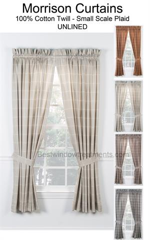 country red buffalo green curtains gold pleat drapes and plaid pencil curtain panels from