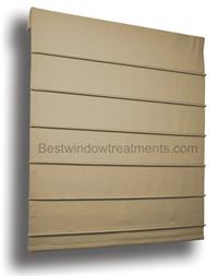 Kitchen Roman Shades with Ribbed Pleat
