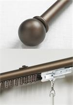 Iron Traverse Rod with Ball Finial