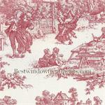 Victorian Toile in Red