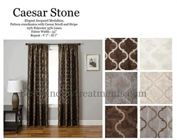 Caesar Stone Tile Faux Silk Curtains with options for Blackout Lining