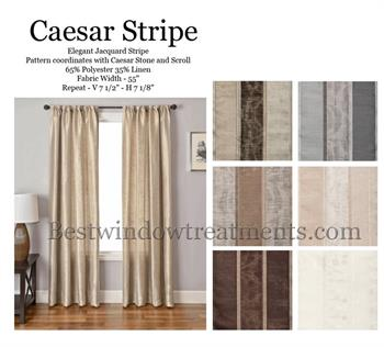 Caesar Stripe Faux Silk Two Tone Pattern with Blackout lining option