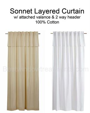 Sonnet Layered Curtain Panel