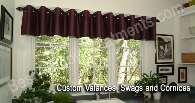 window custom valances decors wooden ideas valance with unique design