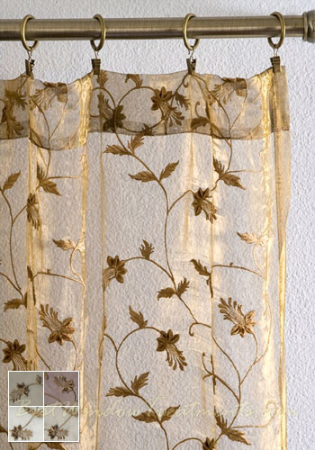 Winston Sheer Curtain Panel available in 4 colors