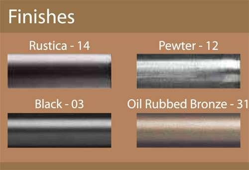 Custom Corner Window 1 Wrought Iron Curtain Rod Set Featuring Rounded Square Cap Finials Available In 4 Finishes