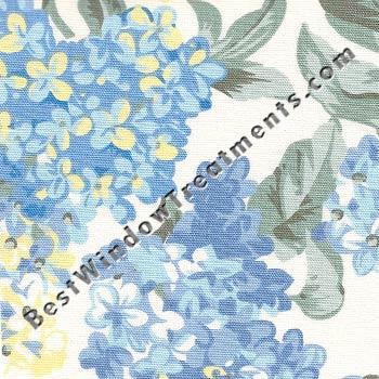 Hydrangea Bloom Empress 2 Piece Swag Lined