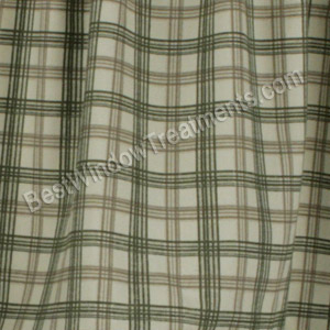 Bristol Plaid Tier Curtains Custom Sizes Available
