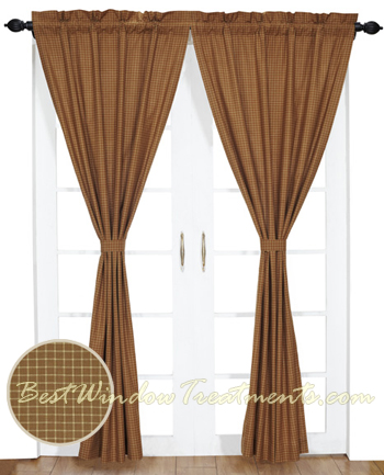 Burlington Plaid Curtains Pair