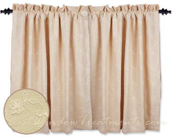 Candlewicking Cream Tier Curtains