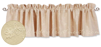 Candlewicking Cream Valance