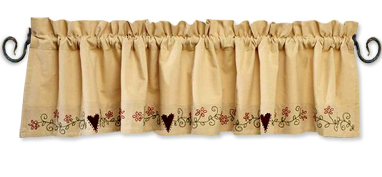 Hearts And Flowers Border Valance Bestwindowtreatments Com