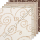 Geneva Scroll Linen Curtain samples