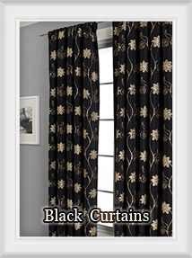 Shop for Solid Black Curtains in Solid or Prints