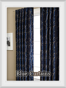 blue royal navy country bedroom for style paisley curtain embroidery pastoral linen drapes curtains